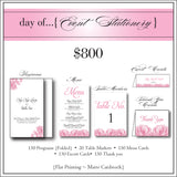 $800 day of Event Stationery {150 ea}