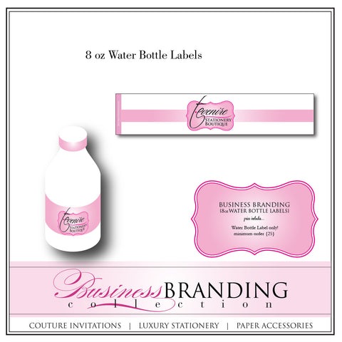 Branded Water Bottle Labels