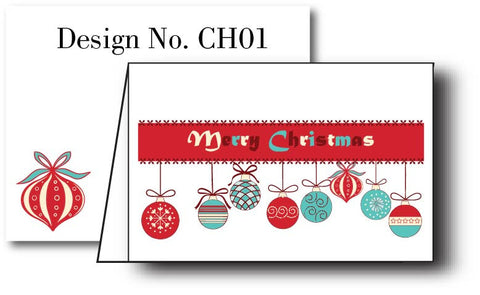 Festive {Holiday Cards} Set of 12