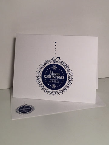Ornament Blue {Holiday Cards} Set of 12
