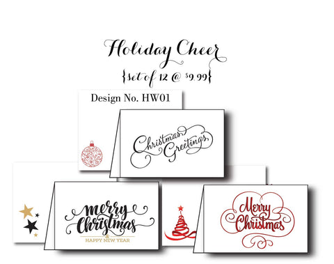 Holiday Cheer {Holiday Cards} Set of 12