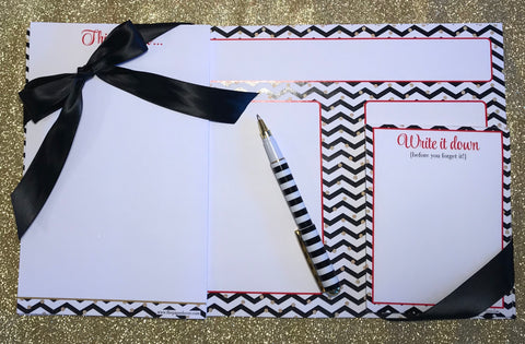 Zig-Zag 3pc Stationery Set