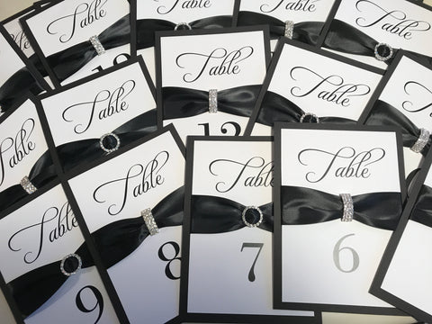 Jeweled Table Number {set of 10}