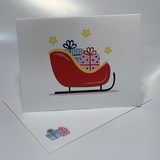 Red Sleigh with gifts {PVC101}