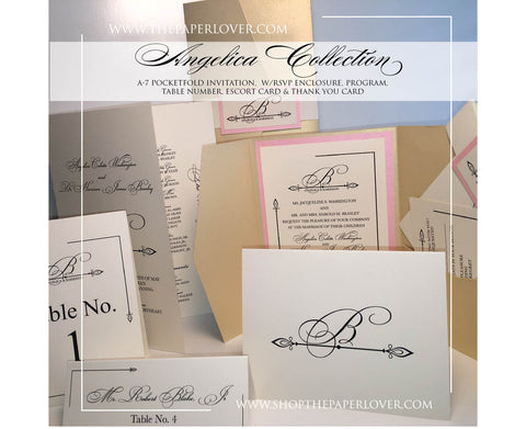 Angelica Stationery Suite {Ready to Order Design} starting at $6.50