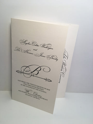 Angelica {Ready to Order ~ Wedding Program } starting at $1.85
