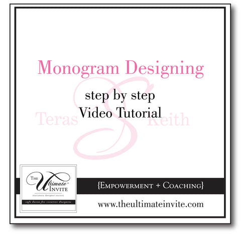 Basic Monogram Designing {step by step video tutorial}