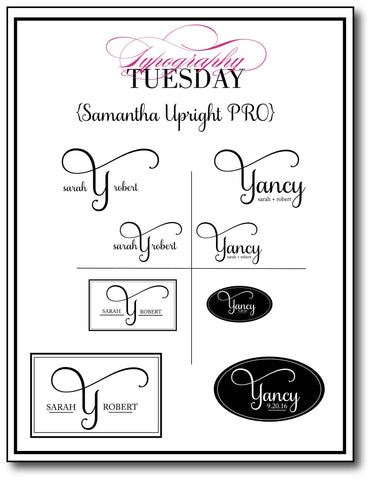 Typography Tuesday {step by step video Tutorial using Samantha Font}