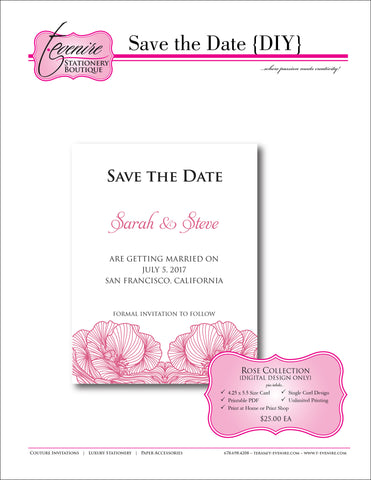 Save the Date {Printable Design}