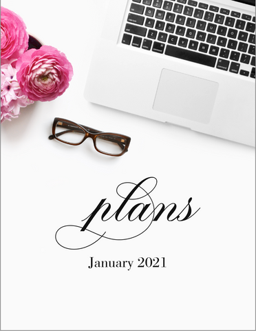 January plans! {1 Page Monthly Planner DIGITAL PLANNER}