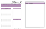 Club•house Notes {PURPLE} Digital Design