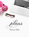February plans! {2-page Monthly Planner}