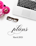 March plans! {2-page Monthly Planner}