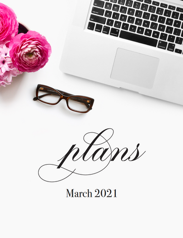 March plans! {1-page Monthly Planner} DIGITAL PLANNER