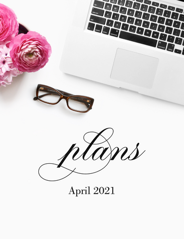 April plans! {1-page Monthly Planner} DIGITAL PLANNER