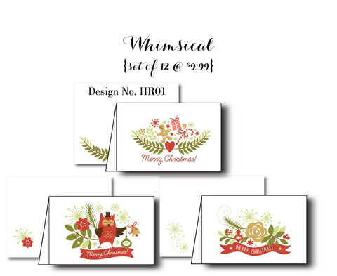Whimsical {Holiday Cards} Assorted Set of 12