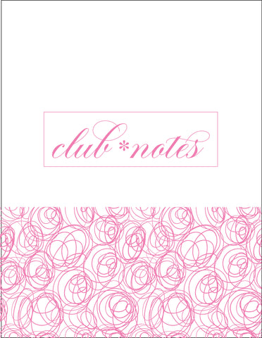 Club•house Notes {PINK} Digital Design