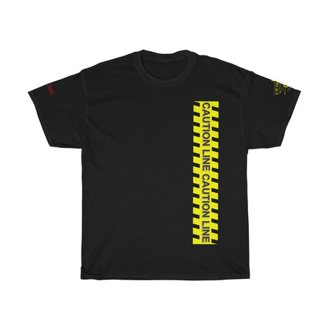 Caution Tape Unisex Heavy Cotton Tee