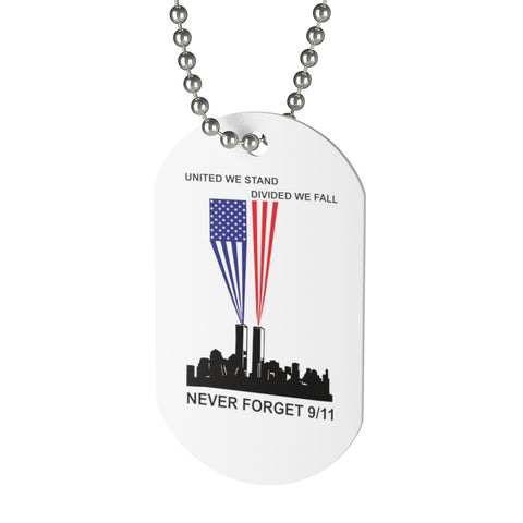 CAUTION LINE Premium Apparel United We Stand - Never Forgt 9/11  Dog Tag