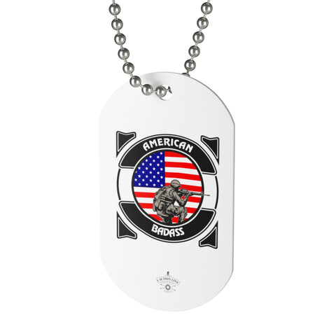 CAUTION LINE Premium Apparel The American Badass Dog Tag