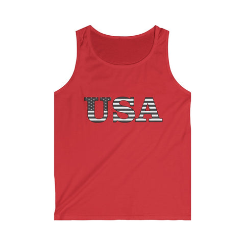 CAUTION LINE Premium Apparel USA Black Flag Tank Top