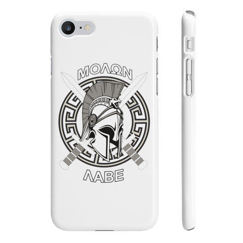 CAUTION LINE Premium Apparel Molon Labe Slim Phone Case
