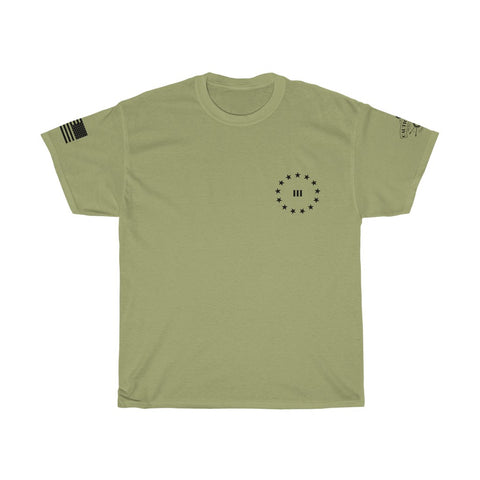 CAUTION LINE Premium Apparel 3 Percent (small logo) Tee