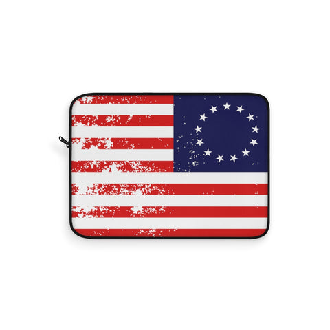 CAUTION LINE Premium Apparel Laptop Sleeve - Betsy Ross