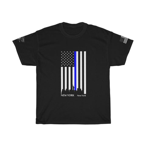 CAUTION LINE Premium Apparel Thin Blue Line - New York City Tee