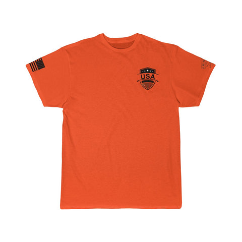 CAUTION LINE Premium Apparel USA Shield Black (small) Tee