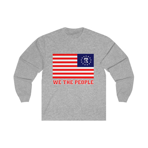 CAUTION LINE Premium Apparel Betsy Ross We The Peole Long Sleeve Tee