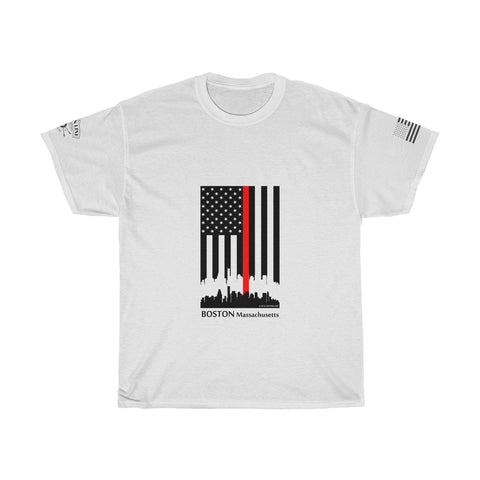 CAUTION LINE Premium Apparel Thin Red Line Boston Tee (B)