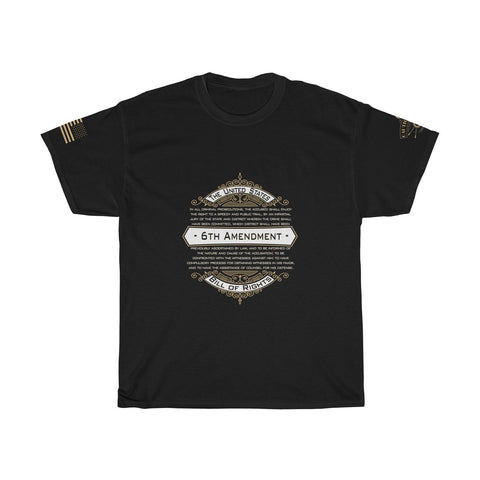 CAUTION LINE Premium Apparel 6th Amendment Vintage Tee