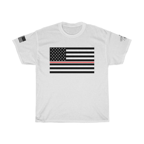 Thin White and Red Line Tee