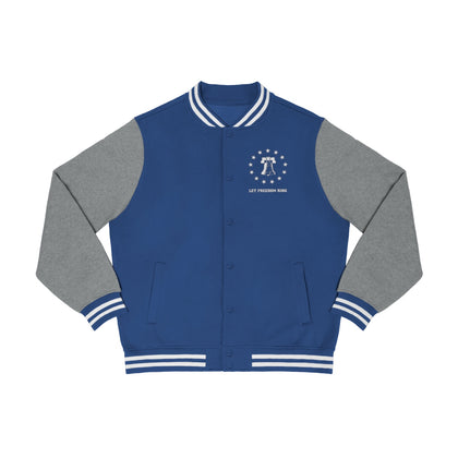 CAUTION LINE Premium Apparel Let Freedom Ring Men's Varsity Jacket