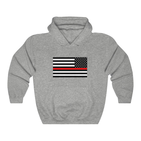 CAUTION LINE Premium Apparel Thin Red Line Unisex Heavy Blend™ Hooded Sweatshirt