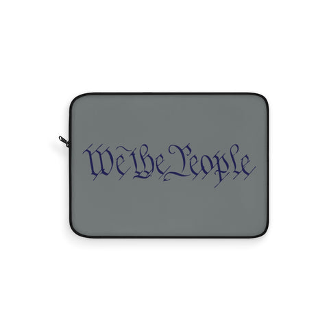 CAUTION LINE Premium Apparel Laptop Sleeve - We The People - Blue (Dk Gray Sleeve)