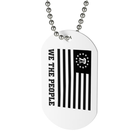 CAUTION LINE Premium Apparel We The People Liberty Bell Dog Tag