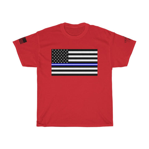 CAUTION LINE Premium Apparel Thin Blue and White Line EMS Tee
