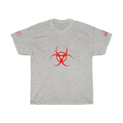 CAUTION LINE Premium Apparel Biohazzard (Red) Unisex Heavy Cotton Tee