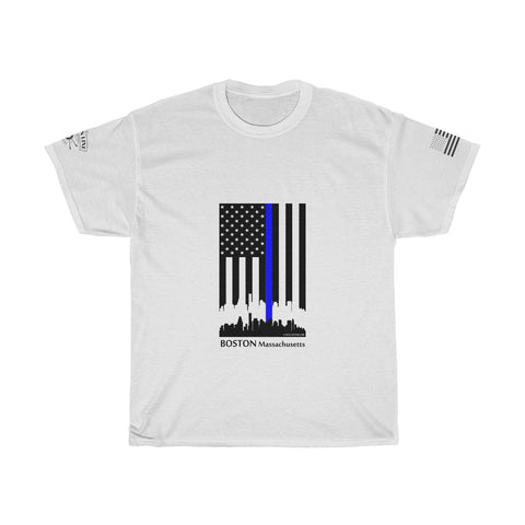 CAUTION LINE Premium Apparel Thin Blue Line Boston Tee (B)