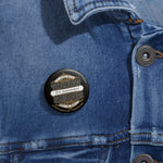 CAUTION LINE Premium Apparel 5th Amendment Vintage Design Pin Buttons
