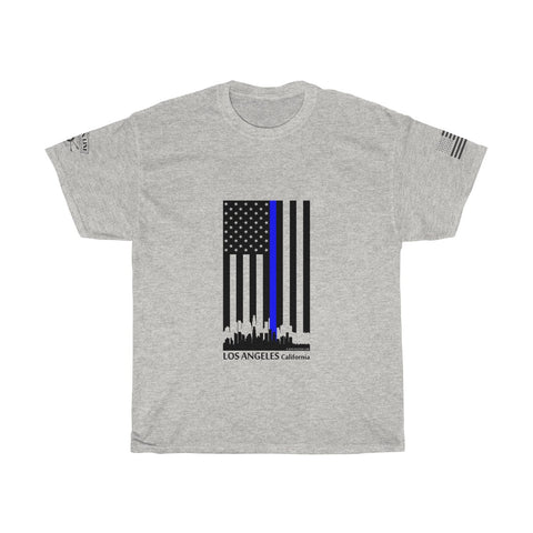 CAUTION LINE Premium Apparel Thin Blue Line Los Angeles Tee (B)