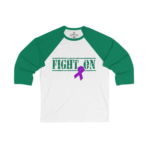 CAUTION LINE Premium Apparel Fight On 3/4 Sleeve Baseball Tee