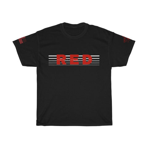CAUTION LINE Premium Apparel Remember Everyone Deployed Tee