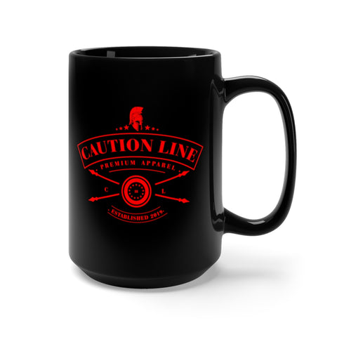 CAUTION LINE Premium Apparel CAUTION LINE Mug 15oz - Black / Red