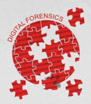 CAUTION LINE Premium Apparel Digital Forensics Puzzle (Red) Tee