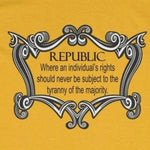 CAUTION LINE Premium Apparel The Republic Tee