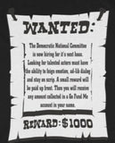CAUTION LINE Premium Apparel Wanted Poster Tee