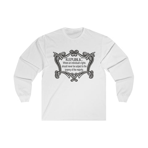 CAUTION LINE Premium Apparel The Republic Long Sleeve Tee